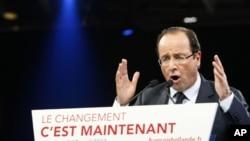 Kandidat partai Sosialis, Francois Hollande diperkirakan akan mengalahkan Presiden Sarkozy dalam pilpres babak kedua Perancis (foto: dok).