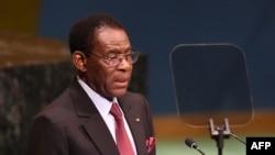 Teodoro Obiang Nguema Mbasogo, président de la Guinée équatoriale, à New York, le 24 septembre 2018.