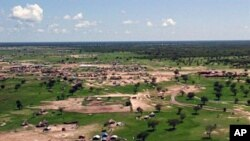 A 2009 aerial shot of Abyei town, south Sudan (File)