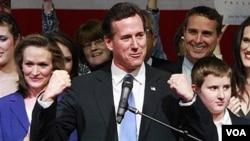 A pesar de que Rick Santorum sólo ganó en tres estados aún no se da por vencido.