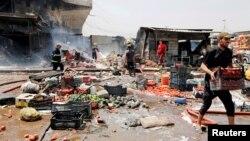 28일 이라크 수도 바그다드의 시아파 거주지역인 사드르의 한 시장에서 폭탄 테러가 발생했다.