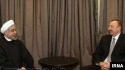 Prezident ILham Əliyev və İran prezidenti Həsən Ruhani
