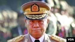 Pemimpin militer Birma, Jenderal Than Shwe.