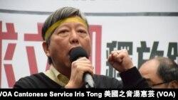 香港支聯會秘書李卓人 (攝影:美國之音湯惠芸)