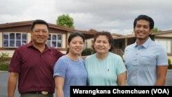 ๋Jiryuth Latthivongskorn, a DACA recipient from Thailand, poses with his family in Hayward, Calif.