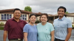 ๋Jiryuth Latthivongskorn, a DACA recipient from Thailand, poses with his family in Hayward, Calif.