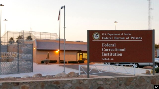"The Federal Correctional Institution is shown early in Safford, Arizona, where Fernando Gonzalez, a member of the ""Cuban Five"" spy ring, was released from the facility on February 27, 2014, where he completed his sentence."