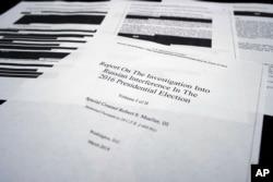 Доклад спецпрокурора Роберта Мюллера на слушаниях в Комитете по разведке Палаты представителей, Вашингтон, 18 апреля 2019 года