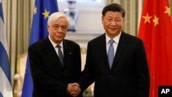 Չինաստանի նախագահ Սի Ծինպինի հանդիպումը Հունաստանի նախագահ Պրոկոպիս Պավլոպոլոսի հետ