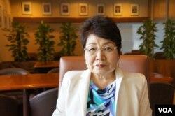 东京福祉大学国际交流中心主任远藤誉(美国之音歌篮拍摄)
