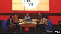 Diskusi 'Ekonomi Bebas Korupsi' di Fakultas Ekonomika dan Bisnis, Universitas Gadjah Mada, Yogyakarta Kamis 3/11 siang (VOA/Nurhadi).