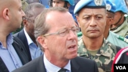 Martin Kobler, chef de la Mission des Nations unies pour la stabilisation au Congo. (Nicholas Long/VOA)