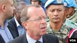 Martin Kobler, chef de la Mission des Nations unies pour la stabilisation au Congo. (Nicholas Long/VOA)