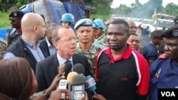 Martin Kobler avec le gouverneur du Nord Kivu en RDC, mai 2015.