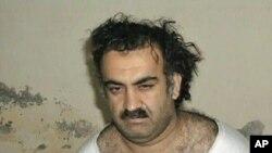 自称是9/11恐怖袭击总策划人的哈立德·谢赫·穆罕默德(资料照片)