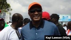 Jean-Pierre, candidat de la coalition de lopposition à l'élection présidentielle au Togo du 25 avril 2015.