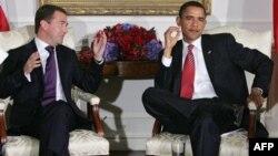 Дмитрий Медведев и Барак Обама