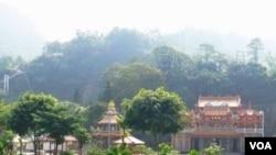Kuil Budha di Alishan, salah satu tujuan wisata di Taiwan.