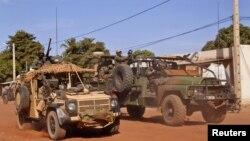 Comandos franceses em Markala, a cerca de 275 kms da capital maliana, Bamako.