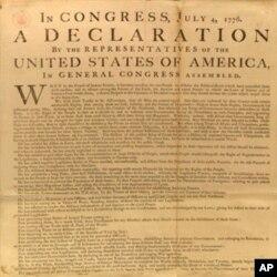 la Déclaration de l'Indépendance des Etats-Unis