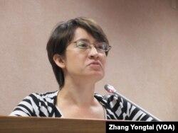 台湾在野党民进党立委萧美琴 (美国之音张永泰拍摄)