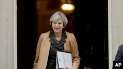 Perdana Menteri Inggris Theresa May di London, 14 Maret 2017. (AP Photo/Matt Dunham)