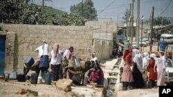 Adduction d'eau dans un camp de réfugiés de Jordanie (Archives)