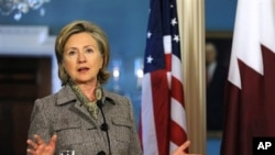 U.S. Secretary of State Hillary Clinton at the State Department in Washington, D.C., 04 Jan 2010