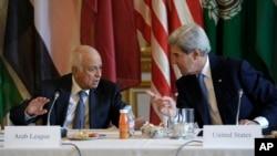 9月8日克里国务卿在巴黎与阿盟举行会谈