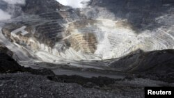 Tambang Grasberg milik PT Freeport McMoRan Indonesia di dekat Timika, Papua (foto: ilustrasi).