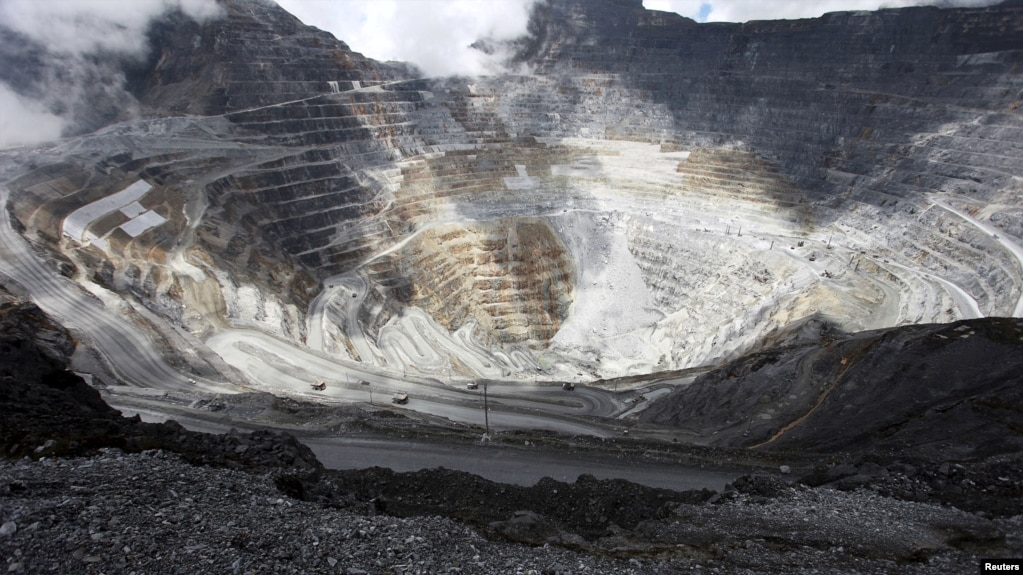 FILE: Trucks operate in the open-pit mine of PT Freeport's Grasberg copper and gold mine complex near Timika, in the eastern region of Papua, Indonesia on Sept. 19, 2015 in this photo taken by Antara Foto.