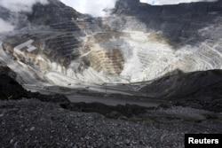 Suasana di tambang tembaga dan emas PT Grasberg milik Freeport di dekat Timika, wilayah timur Papua, Indonesia, 19 September 2015 (Foto: dok/Antara).