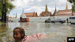 Thủ đô Bangkok trong nước lụt