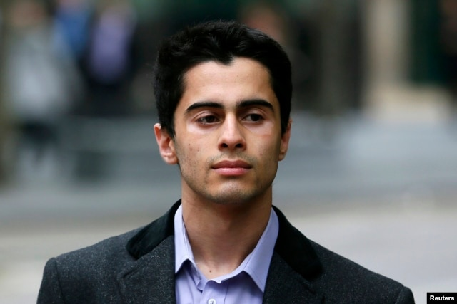 Mustafa al-Bassam arrives at Southwark Crown Court in central London, Britain, May 15, 2013.