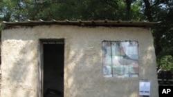 Mud hut built out of plastic bag bricks