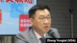 台湾在野党国民党立委江启臣 (美国之音张永泰拍摄)