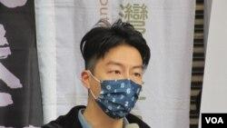 台灣青年政治工作者吳崢(美國之音張永泰拍攝)
