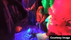 For the second year on a row, an Ohio couple has build a zombie nativity scene in their front yard. (Facebook)