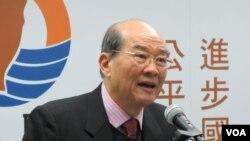 台湾在野党台联党主席 黄昆辉(美国之音张永泰拍摄)