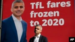 伦敦市长候选人萨迪克汗。