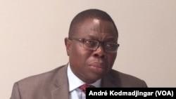Ngueto Yambaye, ministre de l'Economie, de la Planification et du Développement, N'Djamena, 23 août 2017 (VOA /André Kodmadjingar)