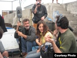 "Filmmaker Safinez Bousbia during the filming of ""El Gusto."" (Courtesy Quidam Production El Gusto)"