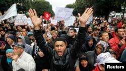 Les partisans d'Ennahda ont scandé des slogans anti-français