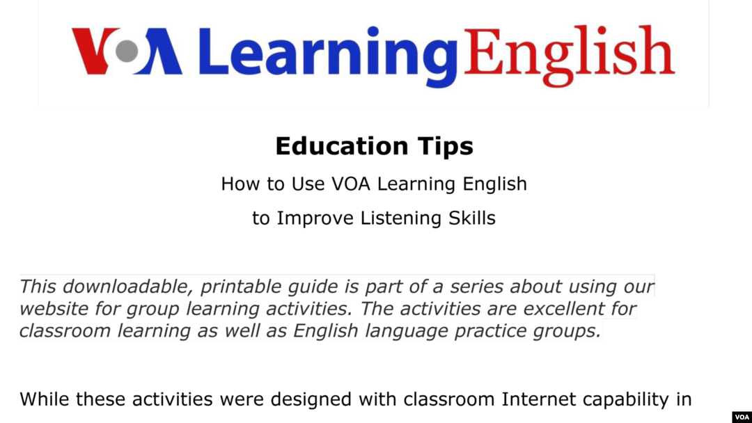 How to Use VOA Learning English to Improve Listening Skills