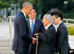 ABŞ prezidenti Hiroşimada