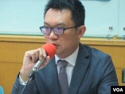兩岸政策協會秘書長王智盛 (美國之音張永泰拍攝)