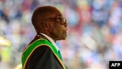 Le président du Zimbabwe Robert Mugabe à Harare, le 18 avril 2017.