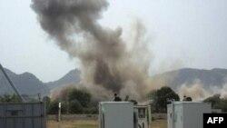 Một vụ nổ lớn gần một tòa nhà của Liên Hiệp Quốc ở bang Nam Kordofan (ảnh tư liệu, ngày 14/6/2011)