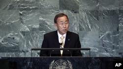 9月21號聯合國秘書長潘基文在66屆聯大上講話