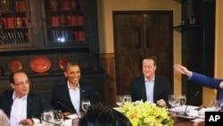 星期五在戴維營的八國集團領袖晚宴工作會議